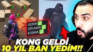 AÇTIĞIM HİLEDEN SONRA 10 YIL BAN YEDİM!! KONG GELDİ! | PUBG MOBILE