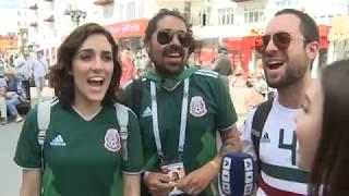 Футбольные болельщики из Мексики и Швеции в Екатеринбурге