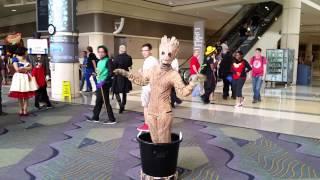 MegaCon 2015: Dancing Baby Groot Cosplay