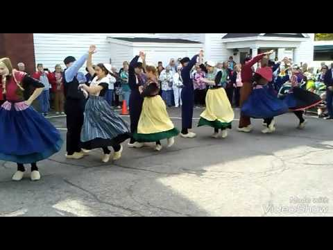 Dutch dance and how wooden shoes are made in Holland Mich