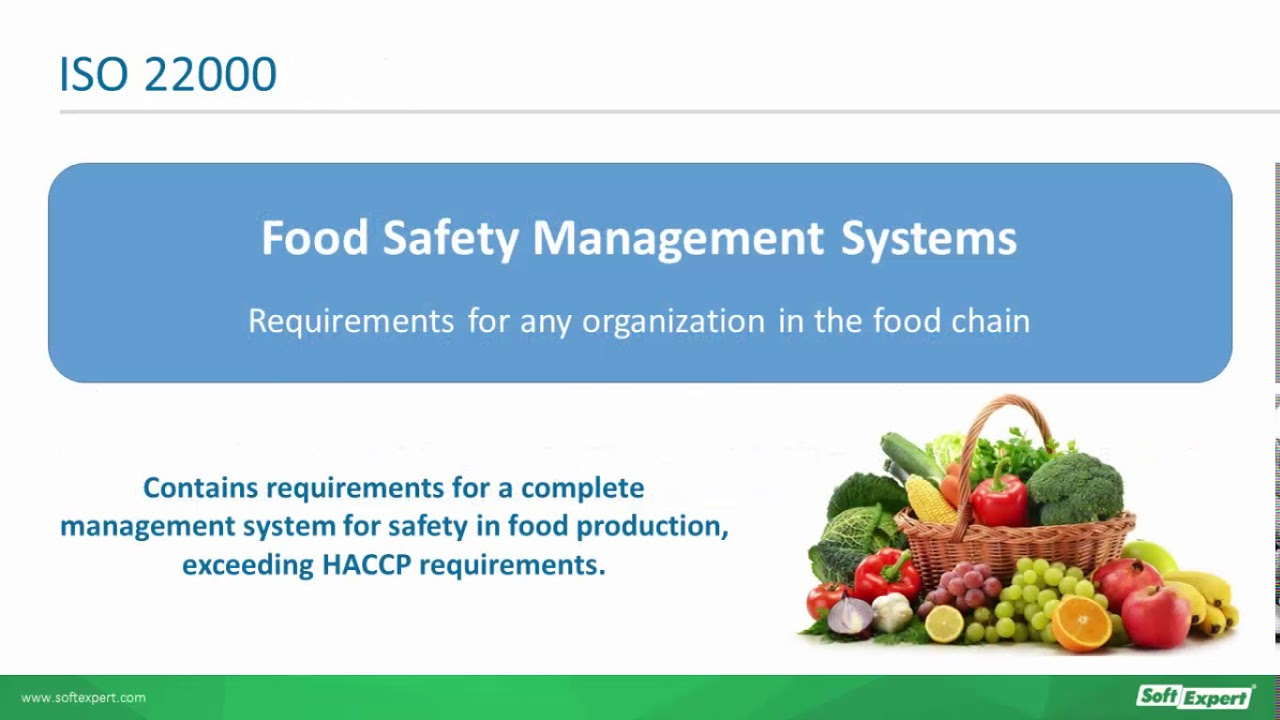 food safety standards iso 22000