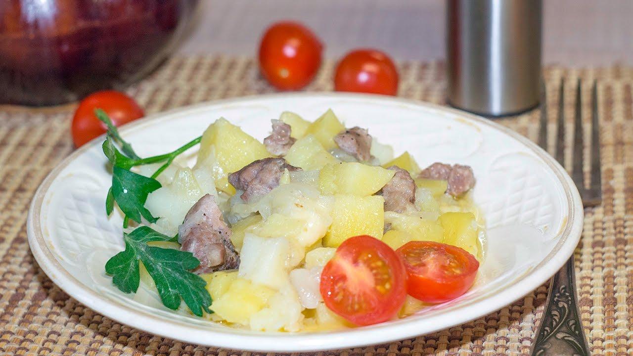 Мясо и картошка в горшочках в микроволновке