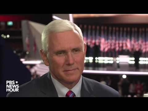 Republican VP Nominee Mike Pence responds to Ted Cruz