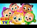 Five Little Monkeys Jumping On The Bed | Kids Tv Nursery Rhymes & Baby Songs