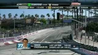 15.4.2012 RD.3 STREET OF LONG BEACH インディ移籍後、自身初表彰台と...