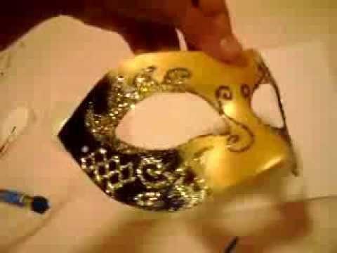 Decorating masquerade mask DIY