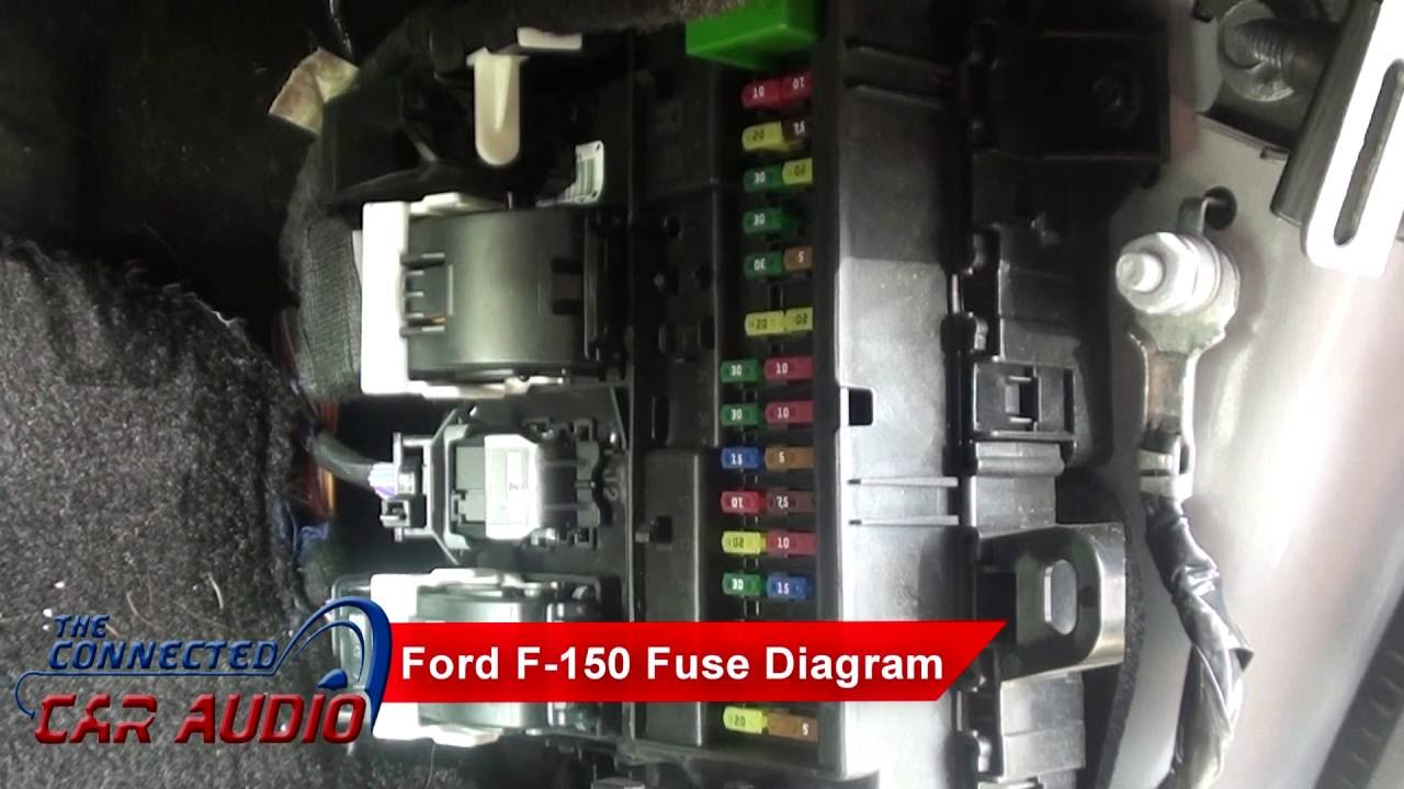 stereo fuse diagram ford f 150 2015 and up youtube rh youtube com 2012 ford f150 fuse box diagram under hood