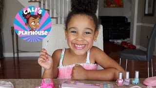 4 Year Old Makeup Routine | Cali's Playhouse