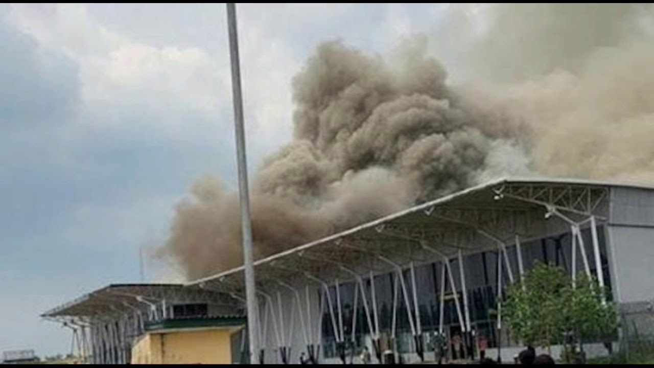 Breaking News! Imo State Airport on Fire!!!