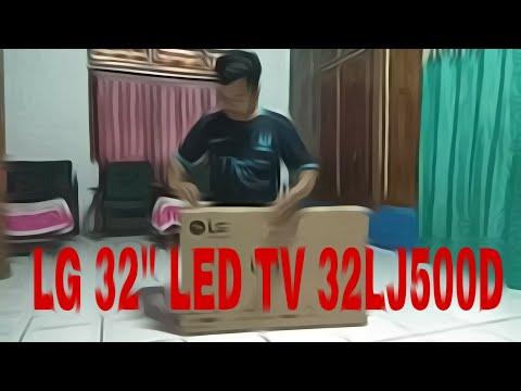 "Unboxing LG 32"" LED TV 32LJ500D & Test Gambar Ninmedia dgn Receiver Venus Tuxcon HD"