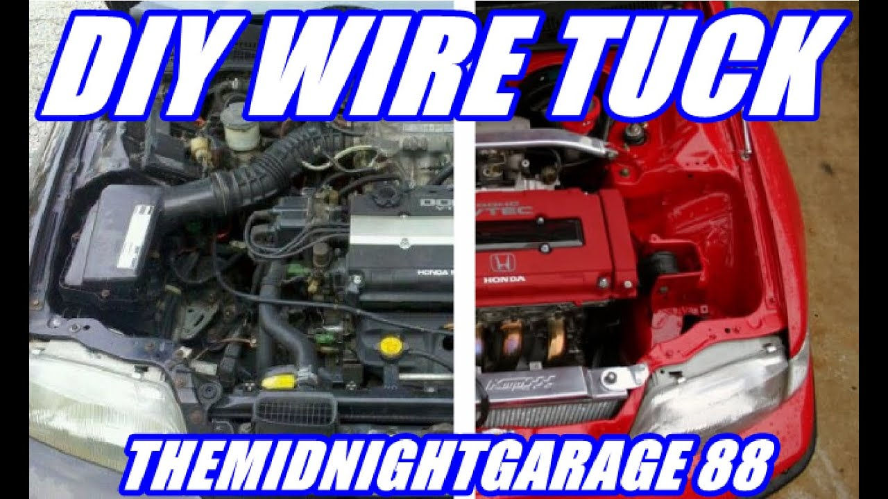 maxresdefault how to wire tuck a honda civic themidnightgarage 88 youtube h22 wire tuck harness at eliteediting.co