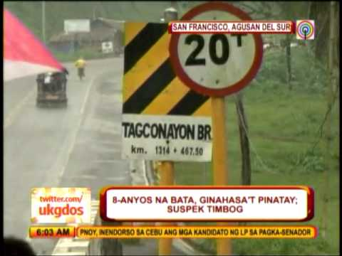 Girl raped, killed in Agusan del Sur