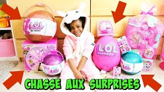JOUET: ENORME CHASSE SURPRISES  LOL ,poupées et Oeufs de PÂQUES !