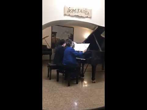 Marcella Crudeli e Leonardo Laviola: Brahms - danze ungheresi n.8 e 9