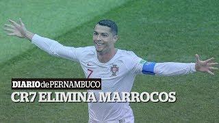 Portugal elimina Marrocos com gol de CR7