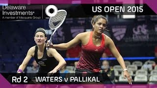 Squash: Delaware Investments US Open 2015 - Rd 2 Highlights - Waters v Pallikal