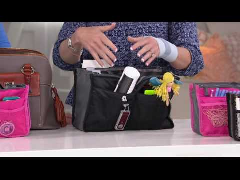 Periea Set of 3 Handbag Organizers with Pockets on QVC