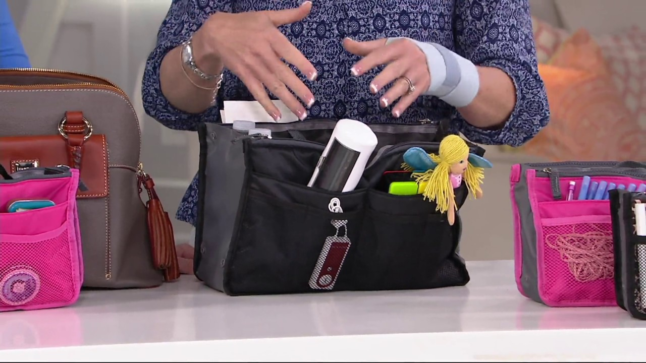 Periea Set Of 3 Handbag Organizers With Pockets On Qvc