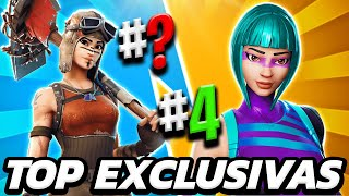 TOP 10 BUT EXCLUSIVE SKINS OF FORTNITE 2019 🔥 LAS SKINS BUT RARE OF ALL FORTNITE
