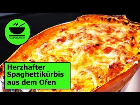 Herzhafter Spaghettikürbis aus dem Ofen von KochMalSchnell