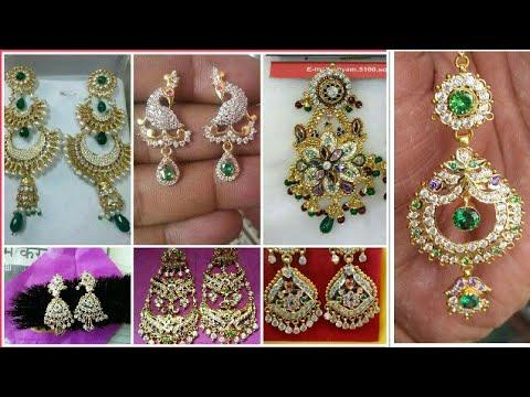 Rajputi Gold Earring Design Collection Tops Design Earring Set