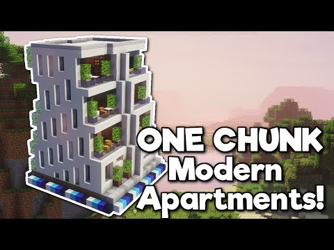 Minecraft: Apartment Block in ONE CHUNK! [Tutorial]