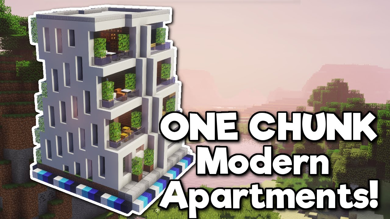 Minecraft Apartment Block In One Chunk Tutorial Youtube