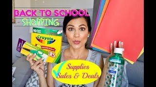 BACK TO SCHOOL SUPPLIES | SHOPPING VLOG & HAUL | COUPONING & DEALS