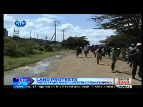 News : Residents protest over Kiang'ombe slum land dispute