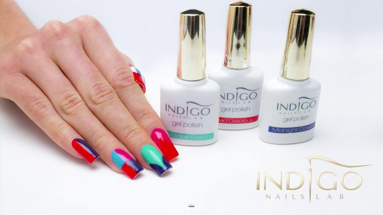 Indigo Gel Polish Full Colour - YouTube
