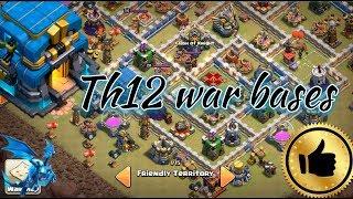 Th12 war bases 2018 .. anti 2 Star anti 3 stars war bases .. clash of clans war bases