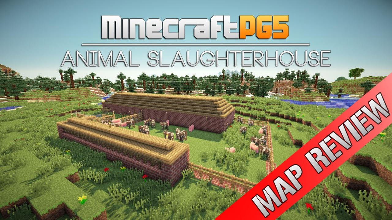 Minecraft Automatic Animal Slaughter House - Map Review