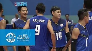 Volleyball Men's Team Semi-Final - THA vs INA | 28th SEA Games Singapore 2015