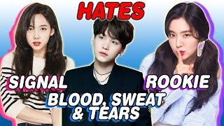 K-POP IDOLS WHO HATE THEIR SONGS (BTS, TWICE, RED VELVET, B.A.P & MORE)