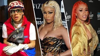 Nicki Minaj allegedly made 6ix9ine remove a Fashionnova line in their song 'MAMA' because of CARDI B