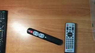 обучаемый универсальный пульт ДУ для телевизора и DVB-T2 приставки