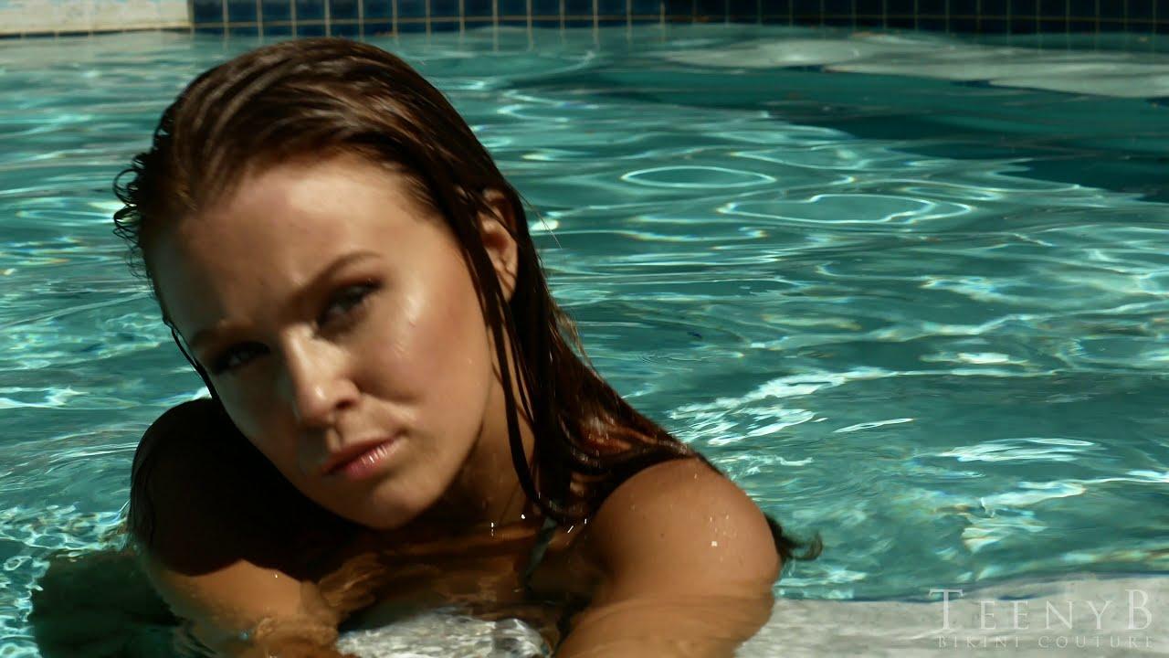 Leanna Decker rocking a leopard mesh bikini