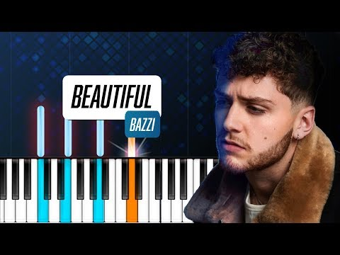 """Bazzi - """"Beautiful"""" Piano Tutorial - Chords - How To Play - Cover"""