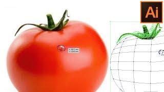 Сетчатый градиент. 🍅 Mesh Tool.  Как нарисовать помидор. Томат. Уроки. Adobe Illustrator.  Урок 18.