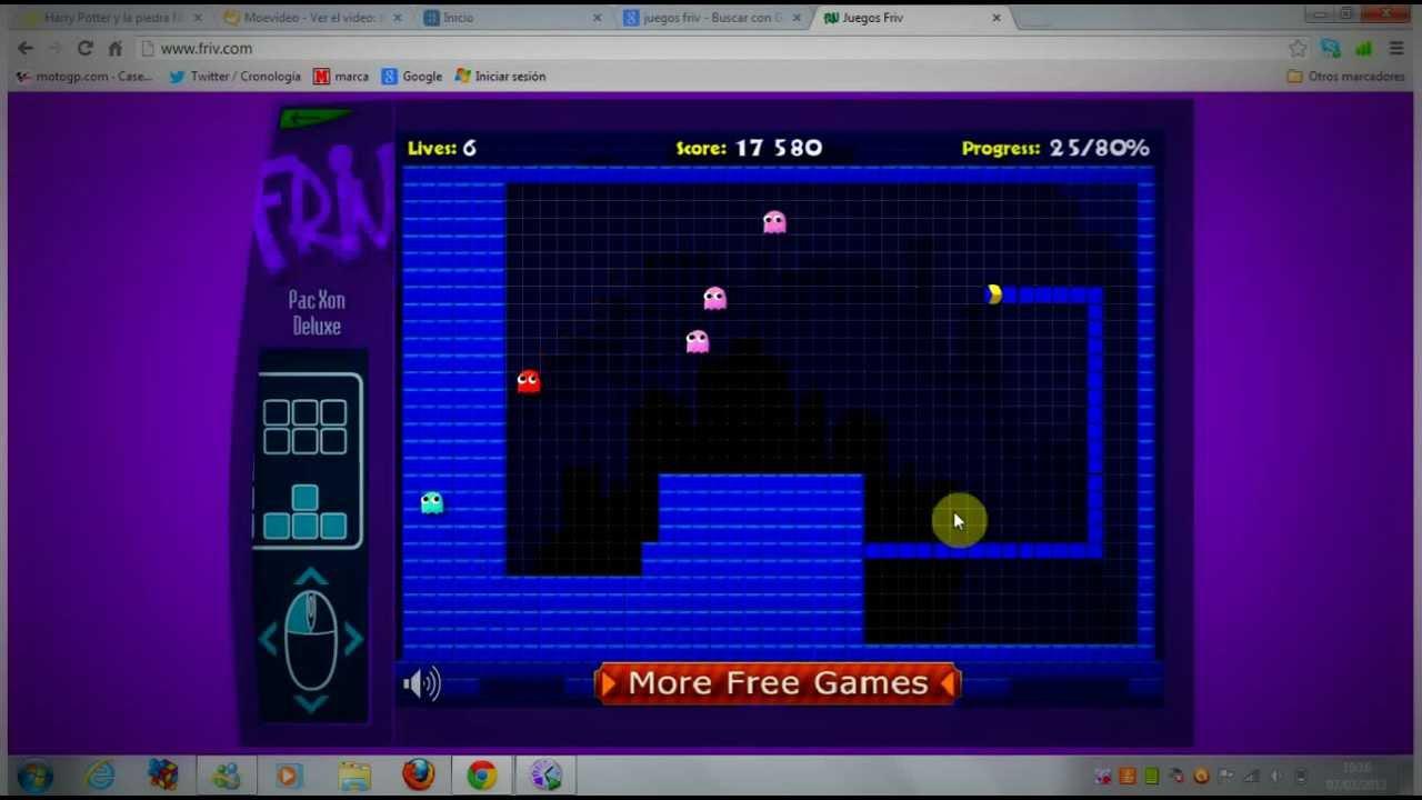 juegos friv-pac-xon deluxe - YouTube