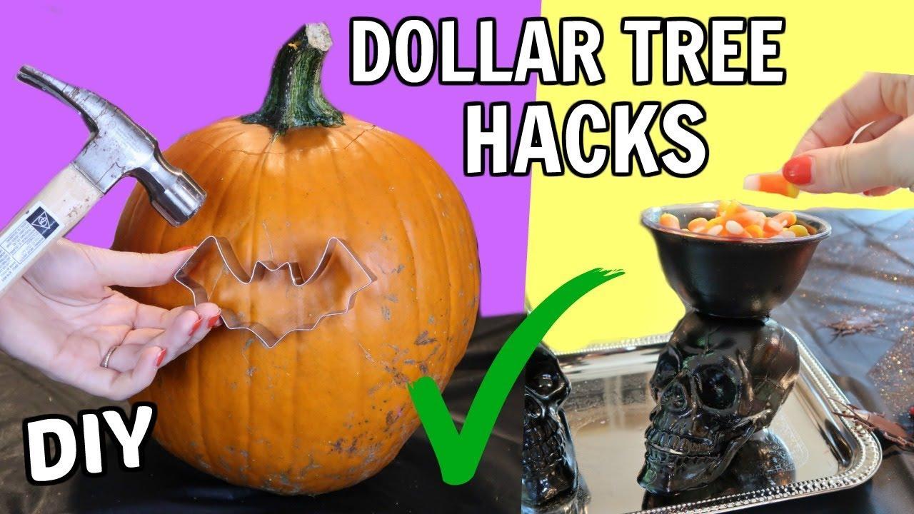 halloween diy hacks from the dollar tree - youtube