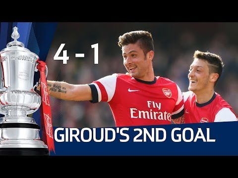 OLIVIER GIROUD 2ND GOAL: Arsenal vs Everton 4-1 FA Cup Sixth Round HD