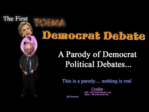 TOIMA Show: Funny Democrat Debate Parody of mock Hillary & Bernie as depicted by Media