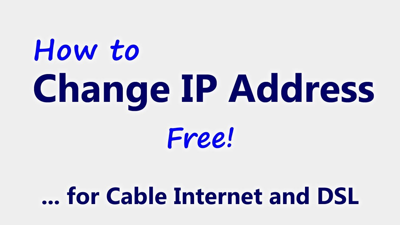Change your IP for FREE