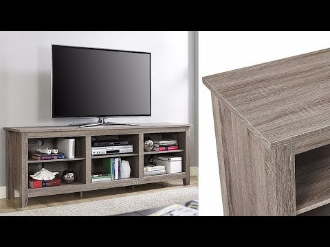 """70"""" TV Stand Entertainment Center Rustic Wood Storage Furniture Media Console"""