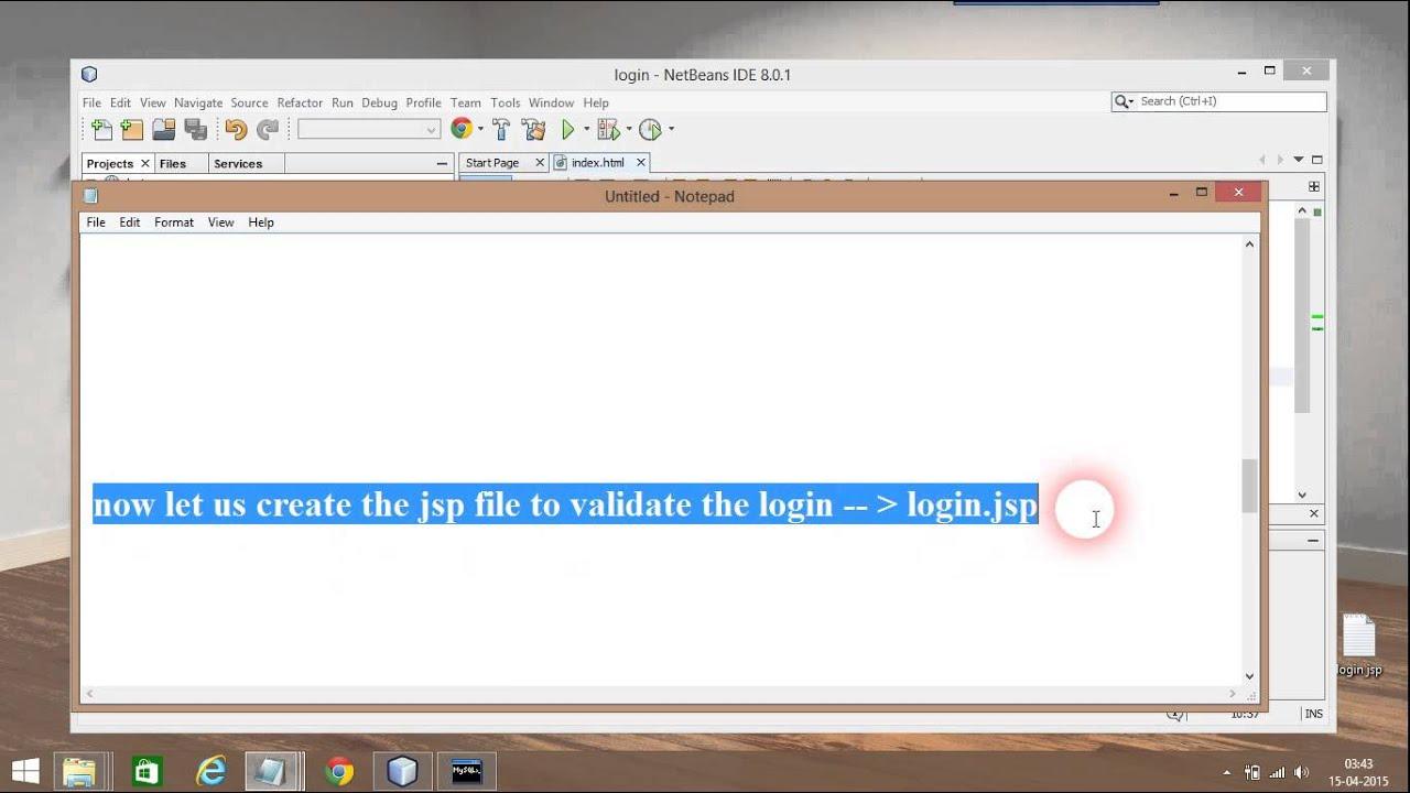 Simple JSP LOGIN FORM Using NetBeans and MySQL