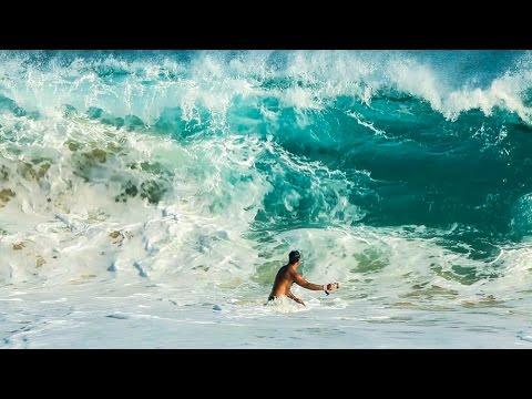Sandy Beach Hurricane Iselle Surf