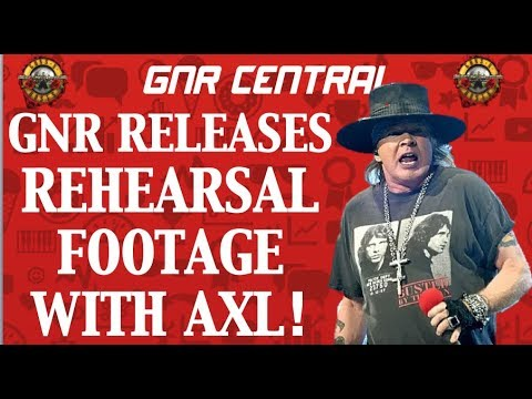 Guns N' Roses Release Rehearsal Video With Axl Rose and the Band!
