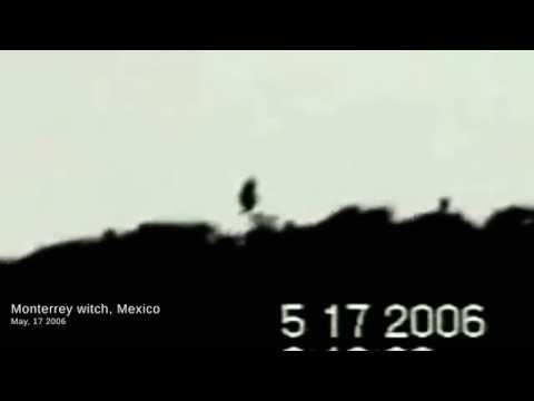 Real Mexican flying witch Monterrey caught on tape Long version full hd La Bruja ghost