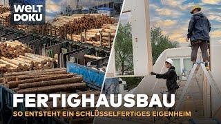 Fertighausbau - vom Holzstamm bis zum Fertighaus | HD Doku